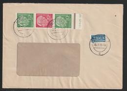 Zusammendruck MiNr. S 36 183/185/183 Mit Unten Strichleistenbogenrand (grün/rot) Und Anhängendem HAN (grün) 15 242 54 - Briefe U. Dokumente