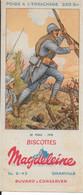 BUVARD  NEUF ANNEES 50 's    BISCOTTES MAGDELEINE  POILU 1918 - Biscottes