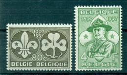 BELGIUM 1957 Mi 1067-68** 50th Anniversary Of Scouting [L3758] - Unused Stamps