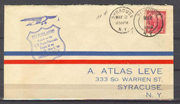 May 2, 1928 - Syracuse, State Aircraft Exposition - Event Covers