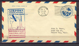 Jul 5, 1929 - Brigeport Conn  - Airport Dedication - Event Covers