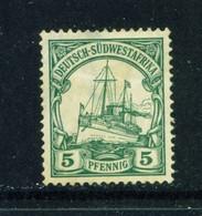 GERMAN SOUTH WEST AFRICA  -  1906-16 Yacht Definitive 5pf Hinged Mint - Kolonie: Deutsch-Südwestafrika