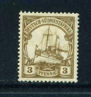 GERMAN SOUTH WEST AFRICA  -  1906-16 Yacht Definitive 3pf Hinged Mint - Kolonie: Deutsch-Südwestafrika