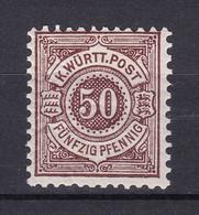 Wuerttemberg - 1890 - Michel Nr. 59 - Ungebr. - Wuerttemberg