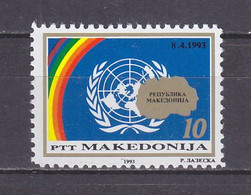 Macedonia 1993 Admission Of Macedonia To UN MNH** - Macedonië