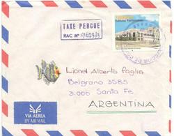 Paraguay 1990, Airmail Sent From Lambare To Santa Fe, Argentina. Chap. 1 - Paraguay