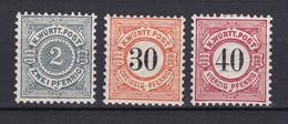 Wuerttemberg - 1894/1900 - Michel Nr. 60/62 - Postfrisch/Ungebr. - Wuerttemberg
