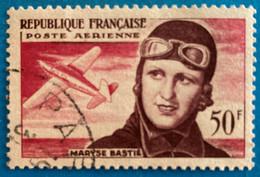 France 1955  : Troisième Anniversaire De La Mort De L'aviatrice Maryse Bastié N° 34 Oblitéré - 1927-1959 Afgestempeld