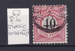 Wuerttemberg - 1900 - Michel Nr. 62 Druckabart - Gestempelt - Wuerttemberg