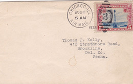 """USA. AIR MAIL CIRCULATED 1928. CHICAGO TO CINCINNATI. """"NOTIFY YOUR CORRESPONDENTS OF CHANGE OF ADDRESS""""- LILHU - Covers & Documents"""