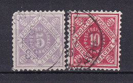 Wuerttemberg - 1875 - Dienstmarken - Michel Nr. 101/102 - Gestempelt - Wuerttemberg
