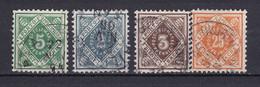 Wuerttemberg - 1890/1900 - Dienstmarken - Michel Nr. 103/106 - Gestempelt - Wuerttemberg