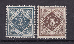 Wuerttemberg - 1896/1900 - Dienstmarken - Michel Nr. 104/105 - Ungebr./Postfrisch - Wuerttemberg