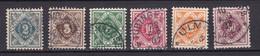 Wuerttemberg - 1906/16 - Dienstmarken - Michel Nr. 112/115, 117/118 - Gestempelt - 50 Euro - Wuerttemberg