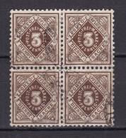 Wuerttemberg - 1906/16 - Dienstmarken - Michel Nr. 113 Viererblock - Gestempelt - 30 Euro - Wuerttemberg