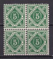 Wuerttemberg - 1906/16 - Dienstmarken - Michel Nr. 114 Viererblock - Postfrisch - Wuerttemberg