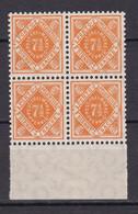 Wuerttemberg - 1916 - Dienstmarken - Michel Nr. 120 UR Viererblock - Postfrisch - Wuerttemberg