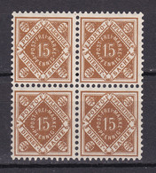 Wuerttemberg - 1916 - Dienstmarken - Michel Nr. 121 Viererblock - Postfrisch - 50 Euro - Wuerttemberg