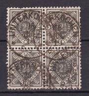 Wuerttemberg - 1916 - Dienstmarken - Michel Nr. 117 Viererblock - Gestempelt - 30 Euro - Wuerttemberg