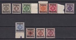 Wuerttemberg - 1919 - Dienstmarken - Michel Nr. 134/143 - Postfrisch/Ungebr. - 40 Euro - Wuerttemberg