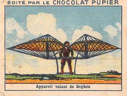 PIE-T-PL-21-3690 : IMAGE  OFFERTE PAR LE CHOCOLAT PUPIER. APPAREIL VOLANT DE DEGHEN. AVIATION PRECURSEUR - Sin Clasificación