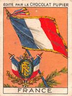 PIE-T-PL-21-3696 : IMAGE  OFFERTE PAR LE CHOCOLAT PUPIER. LE DRAPEAU DE LA FRANCE - Sin Clasificación