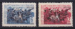 Vietnam Nord  1965 20 Jahre Revolution Mi.-Nr. 385-386 Ungestempelt (*) - Viêt-Nam