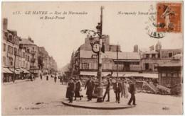 CPA 76 Le Havre Rue De Normandie Et Rond Point - Other
