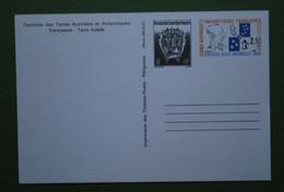 TAAF - Entier Postal N°2 Neuf** - Carte Hommage à Amiral Max Douguet Avec Complément Affranchissement - Brieven En Documenten