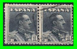 ESPAÑA.- (REINADO DE ALFONSO XIII) -&-PAREJA DE SELLOS AÑO 1922-1930  ALFONSO XIII TIPO VAQUER - Used Stamps