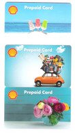 Germany - 3 Cards From 2021 - Shell - Ice On The Beach , Flowers , Fiat - Carte Cadeau - Carta Regalo - Gift Card - Gift Cards