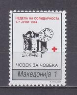Macedonia 1994 Red Cross, Week Of Solidarity MNH** - Macedonië