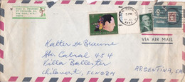 USA ENVELOPE. CIRCULATED 1978. VIA AIR MAIL. NEW YORK TO VILLA BALLESTER, ARGENTINA.- LILHU - Briefe U. Dokumente
