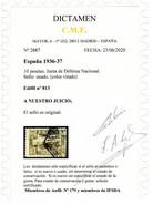 EDIFIL 813 CAMBIO DE COLOR. RARÍSIMO EJEMPLAR.USADO. MUY BUEN ESTADO CERTIFICADO C.M.F. - 1931-50 Usati