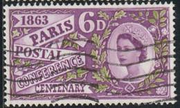 GB 1963 Yv. N°372 - Conférence Postale Internationale De Paris - Oblitéré - Used Stamps