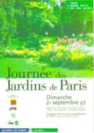 """Carte Postale """"Cart'Com"""" (1997) - Mairie De Paris (Jardins) Journée Des Jardins De Paris - Publicidad"""