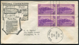 PUERTO RICO - USA N° 366 (4) / FDC OBL SAN JUAN LE 25/11/1937 POUR USA - SUP - Puerto Rico