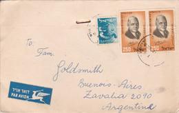 ISRAEL ENVELOPPE, PAR AVION. CIRCULEE 1959. JERUSALEM A BUENOS AIRES, ARGENTINE.- LILHU - Briefe U. Dokumente