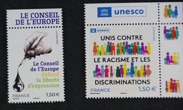 France 2021 -Unesco Et Conseil De L'Europe - Neufs - Ungebraucht