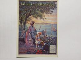 Affiche Ancienne ( La Cote D'émeraude ) Quinlan  Edit Mic Max  'écrite - Publicidad
