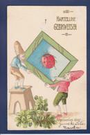 CPA Coccinelle Circulé Gnome Surréalisme - Insects