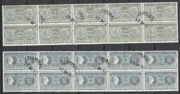 DENMARK 1980 Michel 713 - 714 As 10-blocks O Münzen U. Medaillen - Gebraucht