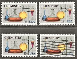 United States - Scott #1685 Used - 4 Different (2) - Gebraucht