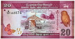 Sri Lanka - 20 Rupees - 2015.02.04 - Unc. - Pick 123.c  - Serie W/341 - Sri Lanka