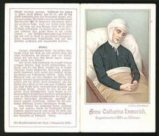 Klapp-Heiligenbild Anna Catharina Emmerich, Augustinerin Zu Dülmen - Devotion Images