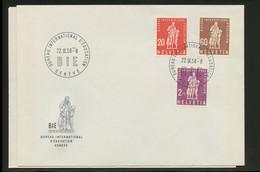1958, Schweiz Internationale Erziehungsamt BIE, 40-45, FDC - Dienstpost