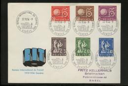 1956, Schweiz Internationale Arbeitsamt BIT, 94-99, FDC - Dienstpost