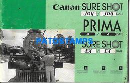 172578 PUBLICITY CANON SURE SHOT PRIMA CAMARA DE FOTO MANUAL DE INSTRUCCION NO POSTAL POSTCARD - Non Classificati