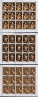 Cook Islands 17.11.1986 SHEETS Mi # 1125-27, Christmas, Paintings By Rubens MNH OG - Cookeilanden