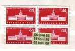 1958 XVIII International Plovdiv Fair   1 V.- MNH   Block Of Four  BULGARIA / Bulgarie - Ungebraucht
